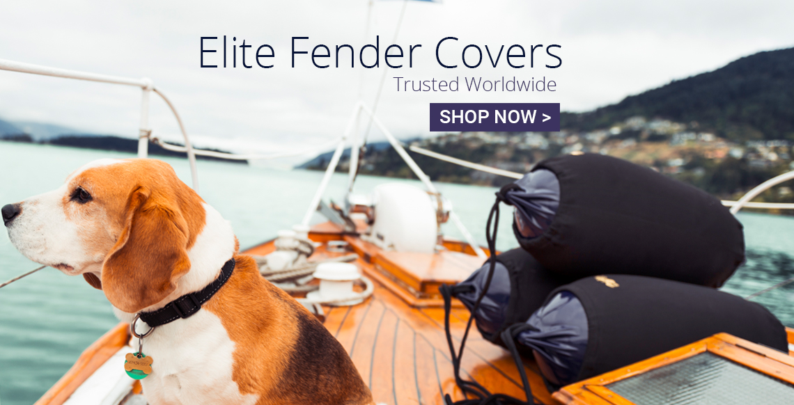 Boat fenders with boat fender covers and a trusted companion, Polyform EFC-Series boat fender covers and F Series boat fenders