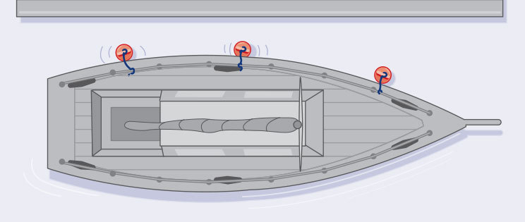 How to arrange boat fenders for docking