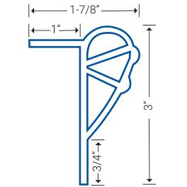 Dock guard diagram, side cut view PG-3